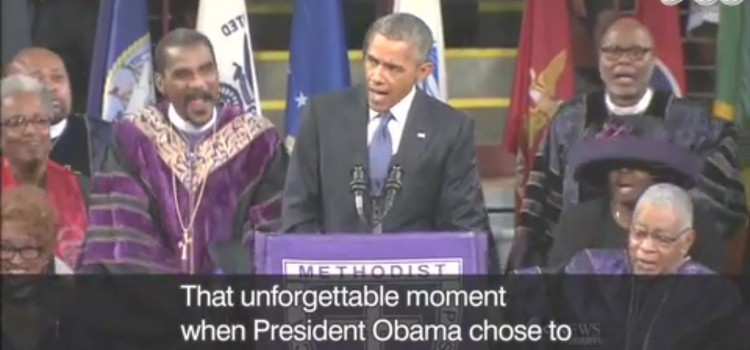 【オバマ大統領 sings again!】unforgettable moment, impromptu, let, healing