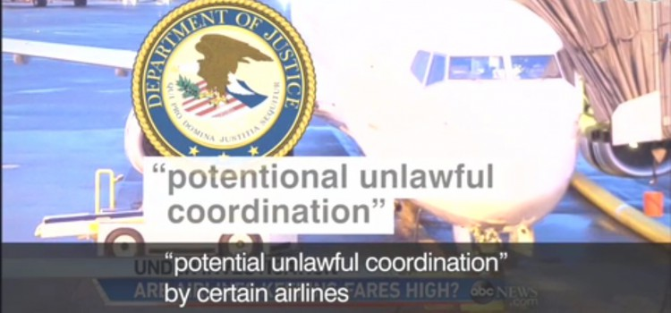 【米航空大手の談合疑惑】potential unlawful coordination, economics 101