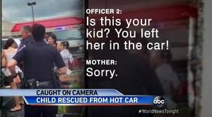 真夏の炎天下、ニュージャージ州にあるコストコの駐車場で車内に子供を置いて買い物に行ったママ。