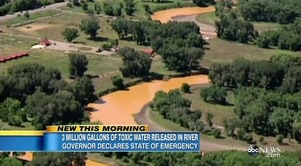 毒性の汚染水が川に流出〜ニューメキシコ州で非常事態宣言