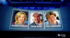 テレビレポーターがオンエア中の中継で射殺されました。。