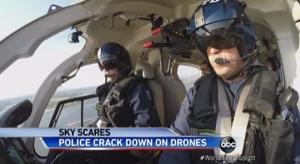 空の安全対策、新しい時代へ。無人飛行機をヘリで取り締まり