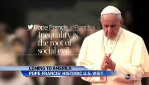 ローマ法王、アメリカ訪問でオバマ大統領と会談!