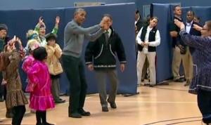 オバマ大統領のキュートなダンス!